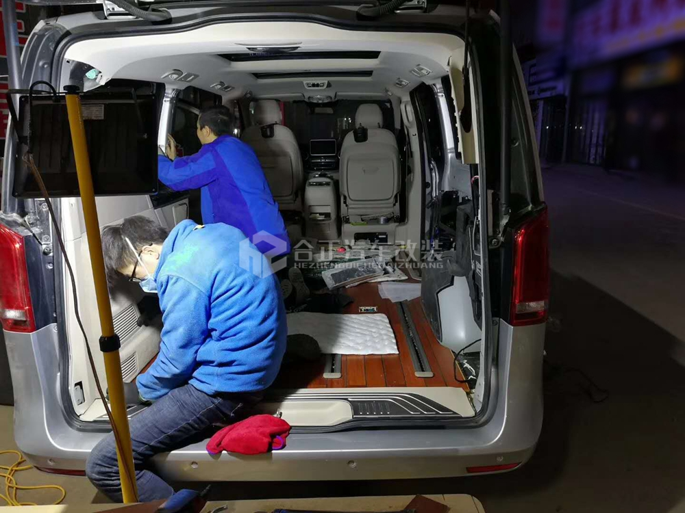 奔驰v260木地板 - 商务车改装丨西安合正汽车用品丨钱